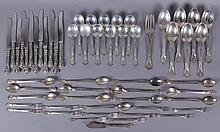 A Partial Set of Sterling Flatware, Gorham Chantilly Pattern
