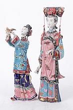 A Pair of Modern Chinese Porcelain Figures