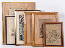 Estate Lot: A Group of Decorated Prints, Chinese Painting