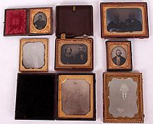 Seven Daguerreotypes, Ambrotypes, Men and Women