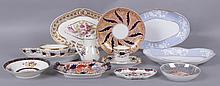 A Group of Early English Porcelain Including Spode and Worcester