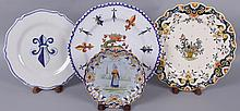 Four Plates, Quimper and Desvres