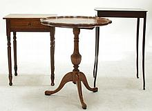 Estate Lot, Three Small Tables, 19th and 20th Century