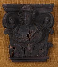 A Carved Wooden Architectural Element