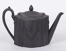 A Wedgwood Black Basalt Teapot, 18th Century