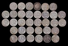 A Group of U.S. Silver Half Dollars