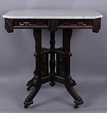 An American Aesthetic Period Walnut Side Table