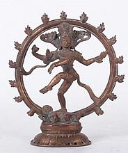 An Indian Copper Figure of Shiva Nataraja