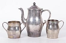 A Three Piece Sterling Teaset