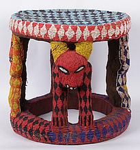 A Beaded African Table, 20th Century