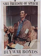 Three WWII Era Norman Rockwell Posters