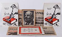 A Group of Soviet Era Material: Prints and Newspapers