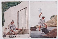 Two 19th Century Indian Paintings, Gouache on Mica