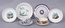 A Group of English Porcelain, 18th Century, Worcester, Spode, Creamware