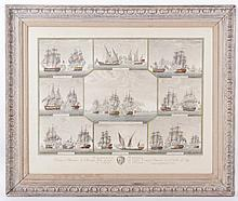 An 18th Century Naval Print, Engraved by Joseph Angeli