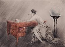 Louis Icart (French, 1888 - 1950) Color Etching