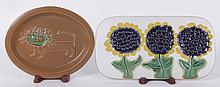 Two Bennington Pottery Tiles, 20th Century