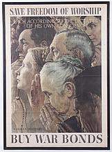 Original Large Norman Rockwell WWII Era Poster
