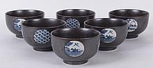 A Set of Six Japanese Porcelain Bowls