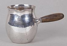 A Georg Jensen Sterling Handled Creamer