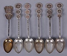 A Group of Chinese Export Silver Spoons
