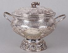 A Thai Silver Plated Presentation Urn, Early 20th Century