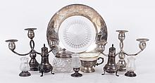 A Group of Estate Sterling Silver, Candelabra, Etc...