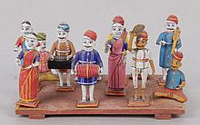 A Group of Indian Papier Mache Figures