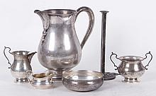 Estate Lot: Sterling Silver Items Including a Water Pitcher
