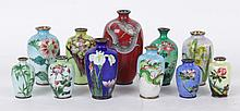 A Group of Japanese Cloisonne Vases
