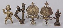 A Group of Indian Bronze Items