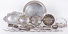 A Group of Estate Sterling, Trays, Flatware