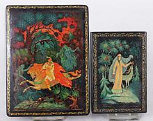 Two Soviet Era Russian Lacquered Boxes