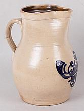 An American Stoneware Pitcher