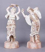 Two 19th Century Large Bisque Figures