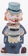 A Papier Mache Bobblehead Figure
