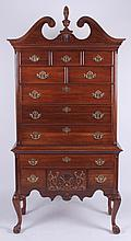 A Pennsylvania House Chippendale Style Mahogany Highboy