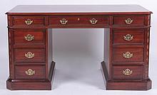 A Pennsylvania House Chippendale Style Mahogany Kneehole Desk