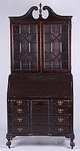 A Chippendale Style Mahogany Secretary Desk