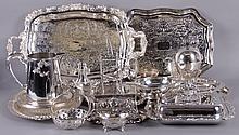 Estate Lot: Silver Plated Hollowware