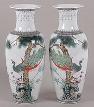 A Pair of Chinese Porcelain Vases, 20th Century