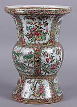 A Large Chinese Rose Medallion Vase