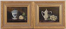 Two Still Lifes, Oil on Canvas, Signed
