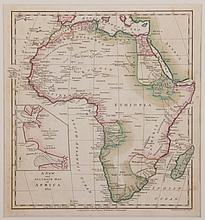 A Late 18th Century Map of Africa Framed with Railroad Ties