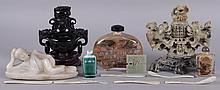 A Group of Chinese Items, Including Soapstone and Marble Items