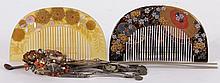 Japanese Hair Ornaments, Kanzashi and Kushi