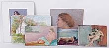Libby Rudnick (American, 20th Century) Six Small Works