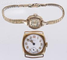 An Early 18K Gold Zenith Watch with a Ladies 14K Gold Example