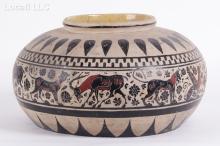 An Indian Pottery Snake Jar