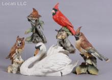 Five Porcelain Bird Figures by Tay, Italy